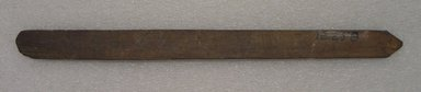 Ainu. <em>Long Straight Prayer Stick</em>. Wood, 7/8 x 11 9/16 in. (2.3 x 29.3 cm). Brooklyn Museum, Gift of Herman Stutzer, 12.258. Creative Commons-BY (Photo: Brooklyn Museum, CUR.12.258_bottom.jpg)