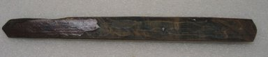 Ainu. <em>Long Straight Prayer Stick</em>. Wood, 1 3/16 x 12 5/8 in. (3 x 32 cm). Brooklyn Museum, Gift of Herman Stutzer, 12.268. Creative Commons-BY (Photo: Brooklyn Museum, CUR.12.268_bottom.jpg)