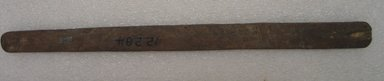 Ainu. <em>Long Narrow Prayer Stick</em>. Wood, 13/16 x 8 1/16 in. (2 x 20.5 cm). Brooklyn Museum, Gift of Herman Stutzer, 12.284. Creative Commons-BY (Photo: Brooklyn Museum, CUR.12.284_bottom.jpg)