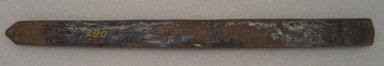 Ainu. <em>Prayer Stick</em>. Lacquer, 1 1/8 x 13 9/16 in. (2.8 x 34.5 cm). Brooklyn Museum, Gift of Herman Stutzer, 12.310. Creative Commons-BY (Photo: Brooklyn Museum, CUR.12.310_bottom.jpg)