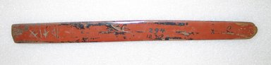 Ainu. <em>Prayer Stick</em>. Lacquer, 1 3/16 x 13 7/16 in. (3 x 34.2 cm). Brooklyn Museum, Gift of Herman Stutzer, 12.319. Creative Commons-BY (Photo: Brooklyn Museum, CUR.12.319_bottom.jpg)