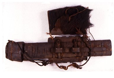 Ainu. <em>Long Quiver and Arrows</em>. Bark and wood, 11 13/16 x 22 7/16 in. (30 x 57 cm). Brooklyn Museum, Gift of Herman Stutzer, 12.403. Creative Commons-BY (Photo: Brooklyn Museum, CUR.12.403.jpg)