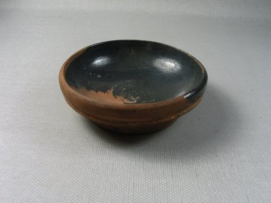 Greek-Attic. <em>Small Shallow Bowl</em>, 450-350 B.C.E. Clay, pigment, 1 x 3 1/4 in. (2.6 x 8.2 cm). Brooklyn Museum, Gift of the Egypt Exploration Society, 12.907. Creative Commons-BY (Photo: Brooklyn Museum, CUR.12.907_view1.jpg)