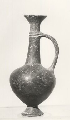 Cypriot. <em>Reddish-Brown Vase</em>, ca. 1539-1292 B.C.E. Terracotta, 5 13/16 x Diam. 2 1/2 in. (14.8 x 6.3 cm). Brooklyn Museum, Gift of the Egypt Exploration Fund, 13.1047. Creative Commons-BY (Photo: Brooklyn Museum, CUR.13.1047_print_NegL840-13_bw.jpg)