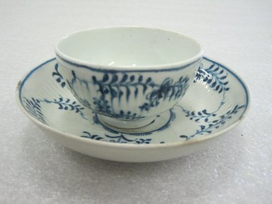 <em>Cup and Saucer</em>, 1760-1770. Porcelain, Cup: 1 11/16 x 3 in. (4.3 x 7.6 cm). Brooklyn Museum, Gift of Reverend Alfred Duane Pell, 13.1076.26a-b. Creative Commons-BY (Photo: Brooklyn Museum, CUR.13.1076.26a-b.jpg)