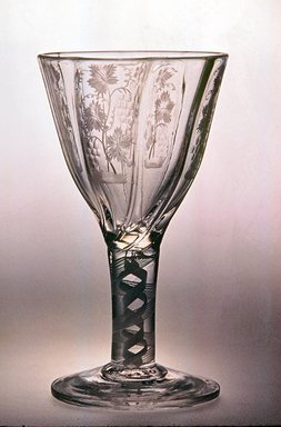 <em>Drawn Ogee Molded Bowl</em>, ca. 1735-1785. Glass, 4 7/8 x 2 3/4 in. (12.4 x 7 cm). Brooklyn Museum, Purchased by Special Subscription and Museum Collection Fund, 13.370. Creative Commons-BY (Photo: Brooklyn Museum, CUR.13.370.jpg)