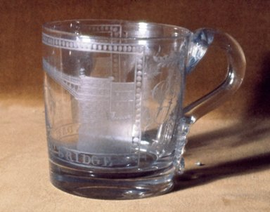 <em>Rectangular Mug</em>, ca. 1700-1800. Glass, 3 1/2 x 3 1/8 in. (8.9 x 7.9 cm). Brooklyn Museum, Purchased by Special Subscription and Museum Collection Fund, 13.604. Creative Commons-BY (Photo: Brooklyn Museum, CUR.13.604.jpg)