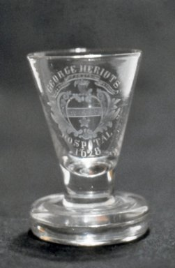 "<em>Coridal ""George Heriot's Hospital,""</em> ca. 1710-1810. Glass, 3 3/8 x 2 1/8 in. (8.6 x 5.4 cm). Brooklyn Museum, Purchased by Special Subscription and Museum Collection Fund, 13.749. Creative Commons-BY (Photo: Brooklyn Museum, CUR.13.749.jpg)"