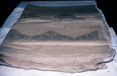 Hawaiian. <em>Tapa (Kapa moe)</em>, mid 19th-early 20th century. Barkcloth, pigment, 115 3/4 x 79 1/2 in. (294 x 202 cm). Brooklyn Museum, Brooklyn Museum Collection, 14.12-. Creative Commons-BY (Photo: , CUR.14.12-.jpg)