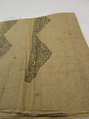 Hawaiian. <em>Tapa (Kapa moe)</em>, mid 19th-early 20th century. Barkcloth, pigment, 115 3/4 x 79 1/2 in. (294 x 202 cm). Brooklyn Museum, Brooklyn Museum Collection, 14.12-. Creative Commons-BY (Photo: , CUR.14.12-_overall.jpg)
