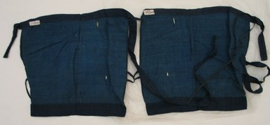 <em>Pair of Man's Leggings Part of a 5 Piece Costume</em>. Cotton, Each: 12 3/8 x 13 3/8 in. (31.5 x 34 cm). Brooklyn Museum, Museum Expedition 1913-1914, Museum Collection Fund, 14.135a-b. Creative Commons-BY (Photo: Brooklyn Museum, CUR.14.135a-b_view1.jpg)