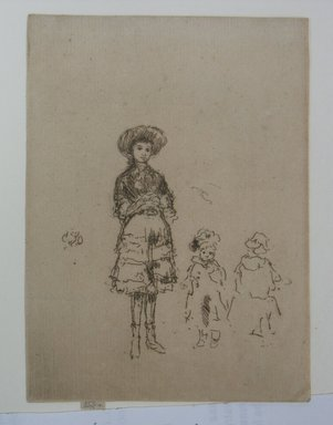 James Abbott McNeill Whistler (American, 1834-1903). <em>The Little Nurse</em>. Etching on paper, 5 3/16 x 3 13/16 in. (13.2 x 9.7 cm). Brooklyn Museum, Gift of A. Augustus Healy, 14.263 (Photo: Brooklyn Museum, CUR.14.263.jpg)