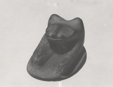 <em>Seal with Forepart of Jackal or Dog</em>, ca. 1539-1292 B.C.E. Terracotta, 1/2 × 5/8 × 7/8 in. (1.2 × 1.6 × 2.2 cm). Brooklyn Museum, Gift of the Egypt Exploration Fund, 14.631. Creative Commons-BY (Photo: Brooklyn Museum, CUR.14.631_negL_362_10_bw.jpg)