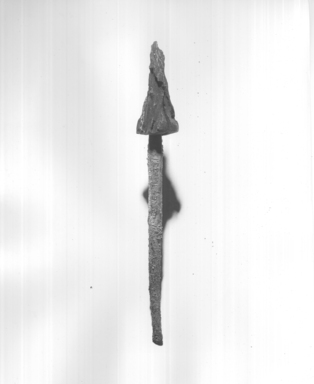 <em>Awl or Borer Set</em>, ca. 1539-1292 B.C.E. Bronze, wood, 5/16 x 6 3/8 in. (0.8 x 16.2 cm). Brooklyn Museum, Gift of the Egypt Exploration Fund, 14.633.1a-b. Creative Commons-BY (Photo: , CUR.14.633.1a-b_print_negL_362_32_bw.jpg)