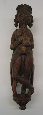 <em>Standing Figurine of a Musician</em>. Carved wood and polychrome, 15 1/2 in. (39.4 cm). Brooklyn Museum, Museum Expedition 1913-1914, 14.732.2. Creative Commons-BY (Photo: Brooklyn Museum, CUR.14.732.2_front.jpg)