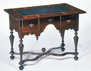 American. <em>Slate Top Serving Table</em>, ca. 1700., 30 3/4 x 41 x 26 1/4 in. (78.1 x 104.1 x 66.7 cm). Brooklyn Museum, Henry L. Batterman Fund, 15.33. Creative Commons-BY (Photo: Brooklyn Museum, CUR.15.33.jpg)