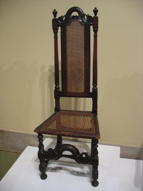 American. <em>Side Chair</em>, ca. 1700., 49 3/4 x 17 1/2 x 15 in. (126.4 x 44.5 x 38.1 cm). Brooklyn Museum, Henry L. Batterman Fund, 15.34. Creative Commons-BY (Photo: Brooklyn Museum, CUR.15.34.jpg)