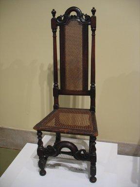 American. <em>Side Chair</em>, ca. 1700., 49 3/4 x 17 1/2 x 15 in. (126.4 x 44.5 x 38.1 cm). Brooklyn Museum, Henry L. Batterman Fund, 15.34. Creative Commons-BY (Photo: Brooklyn Museum, CUR.15.34.jpg)
