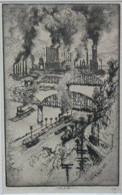 Joseph Pennell (American, 1860-1926). <em>On the Way to Bessemer</em>, 1909. Etching, plate: 11 x 6 15/16 in. (28 x 17.7 cm). Brooklyn Museum, Brooklyn Museum Collection, 15.341 (Photo: Brooklyn Museum, CUR.15.341.jpg)