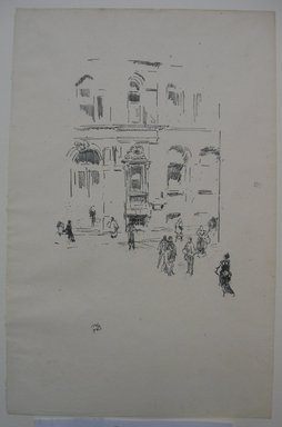 James Abbott McNeill Whistler (American, 1834-1903). <em>Victoria Club</em>, 1879. Lithograph, 12 3/16 x 7 15/16 in. (31 x 20.2 cm). Brooklyn Museum, Gift of the Rembrandt Club, 15.376 (Photo: Brooklyn Museum, CUR.15.376.jpg)