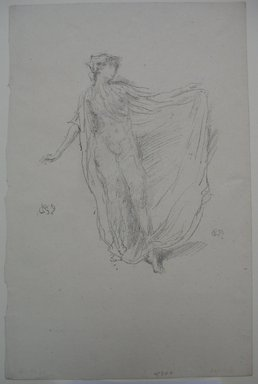 James Abbott McNeill Whistler (American, 1834-1903). <em>The Dancing Girl</em>, 1889. Lithograph, Sheet: 12 7/16 x 8 1/16 in. (31.6 x 20.5 cm). Brooklyn Museum, Gift of the Rembrandt Club, 15.382 (Photo: Brooklyn Museum, CUR.15.382.jpg)