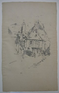 James Abbott McNeill Whistler (American, 1834-1903). <em>Gabled Roofs, Vitre</em>, 1893. Lithograph, irregular: 13 x 8 1/8 in. (33 x 20.6 cm). Brooklyn Museum, Gift of the Rembrandt Club, 15.387 (Photo: Brooklyn Museum, CUR.15.387.jpg)