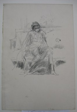James Abbott McNeill Whistler (American, 1834-1903). <em>The Draped Figure, Seated</em>, 1893. Lithograph, 12 1/8 x 8 3/16 in. (30.8 x 20.8 cm). Brooklyn Museum, Gift of the Rembrandt Club, 15.391 (Photo: Brooklyn Museum, CUR.15.391.jpg)