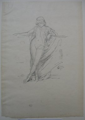 James Abbott McNeill Whistler (American, 1834-1903). <em>Little Draped Figure Leaning</em>, 1893. Lithograph, 12 7/16 x 8 5/8 in. (31.6 x 21.9 cm). Brooklyn Museum, Gift of the Rembrandt Club, 15.395 (Photo: Brooklyn Museum, CUR.15.395.jpg)