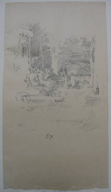 James Abbott McNeill Whistler (American, 1834-1903). <em>The Little Cafe au Bois</em>, 1894. Lithograph, 13 1/16 x 7 1/4 in. (33.2 x 18.4 cm). Brooklyn Museum, Gift of the Rembrandt Club, 15.397 (Photo: Brooklyn Museum, CUR.15.397.jpg)