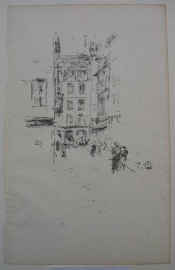 James Abbott McNeill Whistler (American, 1834-1903). <em>Rue Furstemberg</em>, 1894. Lithograph, 12 3/4 x 8 in. (32.4 x 20.3 cm). Brooklyn Museum, Gift of the Rembrandt Club, 15.399 (Photo: Brooklyn Museum, CUR.15.399.jpg)