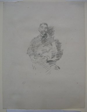 James Abbott McNeill Whistler (American, 1834-1903). <em>Stephane Mallarme</em>, 1892. Lithograph, 8 1/16 x 6 1/8 in. (20.5 x 15.6 cm). Brooklyn Museum, Gift of the Rembrandt Club, 15.400 (Photo: Brooklyn Museum, CUR.15.400.jpg)