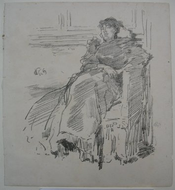 James Abbott McNeill Whistler (American, 1834-1903). <em>La Robe Rouge</em>, 1894. Lithograph, 8 5/8 x 7 7/8 in. (21.9 x 20 cm). Brooklyn Museum, Gift of the Rembrandt Club, 15.401 (Photo: Brooklyn Museum, CUR.15.401.jpg)