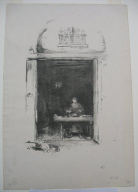 James Abbott McNeill Whistler (American, 1834-1903). <em>The Smith - Passage du Dragon</em>, 1894. Lithograph, 14 3/8 x 9 13/16 in. (36.5 x 24.9 cm). Brooklyn Museum, Gift of the Rembrandt Club, 15.402 (Photo: Brooklyn Museum, CUR.15.402.jpg)