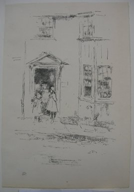 James Abbott McNeill Whistler (American, 1834-1903). <em>The Little Doorway, Lyme Regis</em>, 1895. Lithograph, 11 1/16 x 7 9/16 in. (28.1 x 19.2 cm). Brooklyn Museum, Gift of the Rembrandt Club, 15.403 (Photo: Brooklyn Museum, CUR.15.403.jpg)