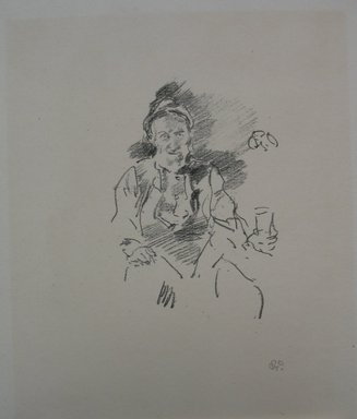James Abbott McNeill Whistler (American, 1834-1903). <em>The Master Smith</em>, 1895. Lithograph, 11 1/8 x 8 7/8 in. (28.3 x 22.5 cm). Brooklyn Museum, Gift of the Rembrandt Club, 15.404 (Photo: Brooklyn Museum, CUR.15.404.jpg)
