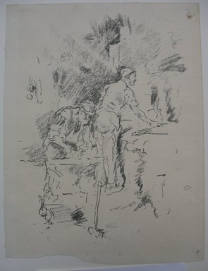 James Abbott McNeill Whistler (American, 1834-1903). <em>Father and Son</em>, 1895. Lithograph, 9 1/2 x 7 3/16 in. (24.1 x 18.3 cm). Brooklyn Museum, Gift of the Rembrandt Club, 15.406 (Photo: Brooklyn Museum, CUR.15.406.jpg)
