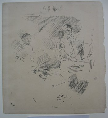 James Abbott McNeill Whistler (American, 1834-1903). <em>The Strong Arm</em>, 1895. Lithograph, 8 5/8 x 7 13/16 in. (21.9 x 19.8 cm). Brooklyn Museum, Gift of the Rembrandt Club, 15.408 (Photo: Brooklyn Museum, CUR.15.408.jpg)