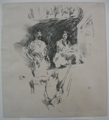 James Abbott McNeill Whistler (American, 1834-1903). <em>The Brothers</em>, 1895. Lithograph, 8 5/8 x 7 3/4 in. (21.9 x 19.7 cm). Brooklyn Museum, Gift of the Rembrandt Club, 15.409 (Photo: Brooklyn Museum, CUR.15.409.jpg)