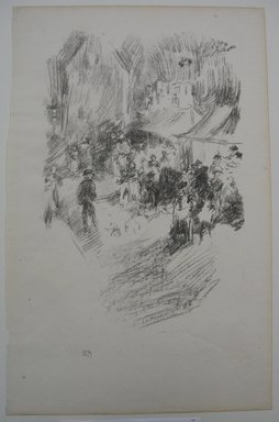 James Abbott McNeill Whistler (American, 1834-1903). <em>The Fair</em>, 1895. Lithograph, 12 3/4 x 8 1/8 in. (32.4 x 20.6 cm). Brooklyn Museum, Gift of the Rembrandt Club, 15.410 (Photo: Brooklyn Museum, CUR.15.410.jpg)