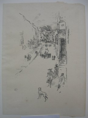 James Abbott McNeill Whistler (American, 1834-1903). <em>Sunday, Lyme Regis</em>, 1895. Lithograph, 9 7/8 x 7 3/16 in. (25.1 x 18.3 cm). Brooklyn Museum, Gift of the Rembrandt Club, 15.412 (Photo: Brooklyn Museum, CUR.15.412.jpg)