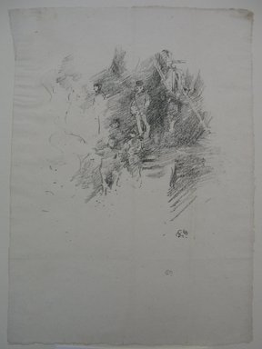 James Abbott McNeill Whistler (American, 1834-1903). <em>Fifth of November</em>, 1895. Lithograph, irregular: 11 11/16 x 8 3/4 in. (29.7 x 22.2 cm). Brooklyn Museum, Gift of the Rembrandt Club, 15.413 (Photo: Brooklyn Museum, CUR.15.413.jpg)