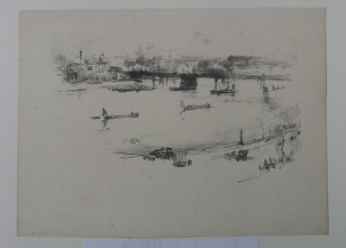 James Abbott McNeill Whistler (American, 1834-1903). <em>Charing Cross Railway Bridge</em>, 1896. Lithograph, 7 7/8 x 10 11/16 in. (20 x 27.1 cm). Brooklyn Museum, Gift of the Rembrandt Club, 15.417 (Photo: Brooklyn Museum, CUR.15.417.jpg)
