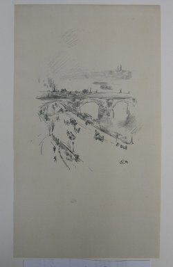James Abbott McNeill Whistler (American, 1834-1903). <em>Waterloo Bridge</em>, 1896. Lithograph, 11 7/8 x 6 7/8 in. (30.2 x 17.5 cm). Brooklyn Museum, Gift of the Rembrandt Club, 15.419 (Photo: Brooklyn Museum, CUR.15.419.jpg)