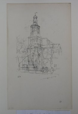 James Abbott McNeill Whistler (American, 1834-1903). <em>St. Anne's, Soho</em>, 1896. Lithograph, 11 7/8 x 7 3/16 in. (30.2 x 18.3 cm). Brooklyn Museum, Gift of the Rembrandt Club, 15.420 (Photo: Brooklyn Museum, CUR.15.420.jpg)