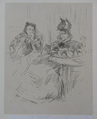 James Abbott McNeill Whistler (American, 1834-1903). <em>Afternoon Tea</em>, 1897. Lithograph, Sheet: 12 1/8 x 10 7/16 in. (30.8 x 26.5 cm). Brooklyn Museum, Gift of the Rembrandt Club, 15.422 (Photo: Brooklyn Museum, CUR.15.422.jpg)