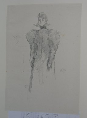 James Abbott McNeill Whistler (American, 1834-1903). <em>The Medici Collar</em>, 1897. Lithograph, irregular: 9 1/2 x 6 7/16 in. (24.1 x 16.4 cm). Brooklyn Museum, Gift of the Rembrandt Club, 15.423 (Photo: Brooklyn Museum, CUR.15.423.jpg)