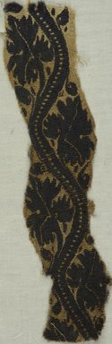 Coptic. <em>Band Fragment with Botanical Decoration</em>, 3rd-4th century C.E. Flax, wool, 10 3/8 x 2 1/2 in. (26.4 x 6.4 cm). Brooklyn Museum, Gift of the Egypt Exploration Fund, 15.430. Creative Commons-BY (Photo: Brooklyn Museum (in collaboration with Index of Christian Art, Princeton University), CUR.15.430_ICA.jpg)