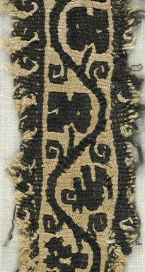 Coptic. <em>Band Fragment with Botanical and Bird Decoration</em>, 5th-6th century C.E. Flax, wool, 9 1/2 x 1 3/4 in. (24.1 x 4.4 cm). Brooklyn Museum, Gift of the Egypt Exploration Fund, 15.432. Creative Commons-BY (Photo: Brooklyn Museum (in collaboration with Index of Christian Art, Princeton University), CUR.15.432_detail01_ICA.jpg)
