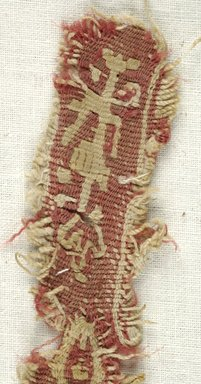 Coptic. <em>Band Fragment with Botanical Decoration</em>, 5th-6th century C.E. Flax, wool, 1 x 7 in. (2.5 x 17.8 cm). Brooklyn Museum, Gift of the Egypt Exploration Fund, 15.451e. Creative Commons-BY (Photo: Brooklyn Museum (in collaboration with Index of Christian Art, Princeton University), CUR.15.451E_detail01_ICA.jpg)