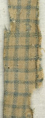 Coptic. <em>Fragment of Plain Cloth Weave</em>, 5th-6th century C.E. Linen, 3/4 x 9 in. (1.9 x 22.9 cm). Brooklyn Museum, Gift of the Egypt Exploration Fund, 15.474b. Creative Commons-BY (Photo: Brooklyn Museum (in collaboration with Index of Christian Art, Princeton University), CUR.15.474B_detail01_ICA.jpg)
